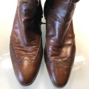 Salvatore Ferragamo Oxford Boots Size 6.5 AA